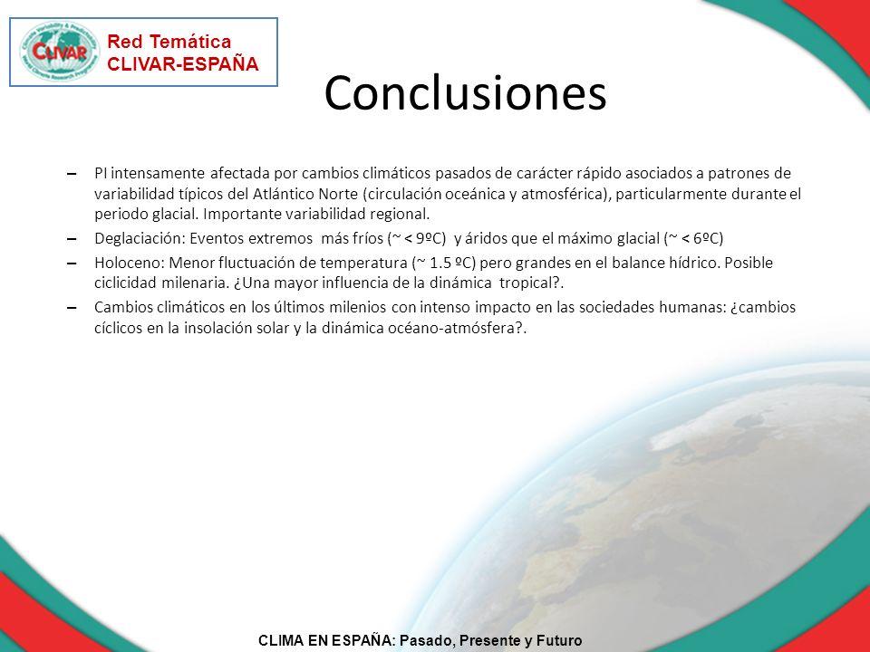 Conclusiones Red Temática CLIVAR-ESPAÑA