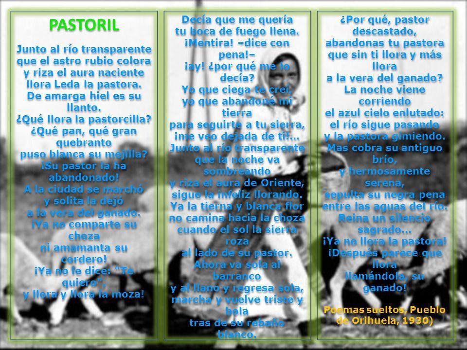 Poemas sueltos, Pueblo de Orihuela, 1930)