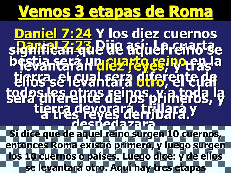Vemos 3 etapas de Roma