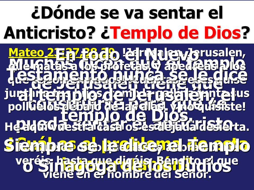 ¿Dónde se va sentar el Anticristo ¿Templo de Dios