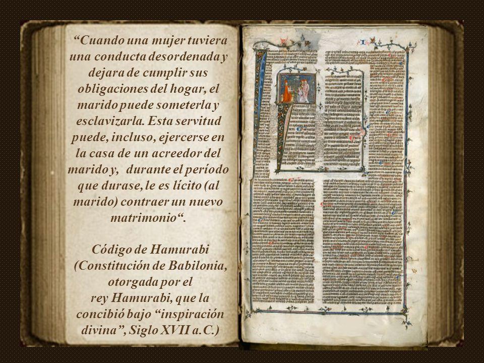 Código de Hamurabi (Constitución de Babilonia, otorgada por el