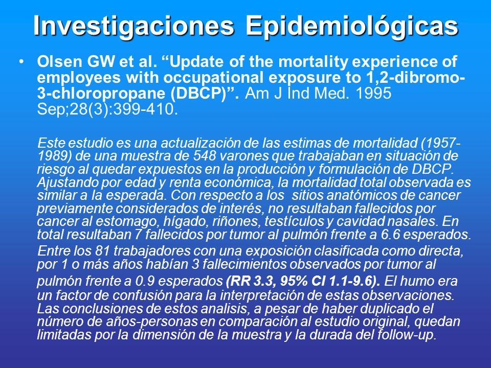 Investigaciones Epidemiológicas