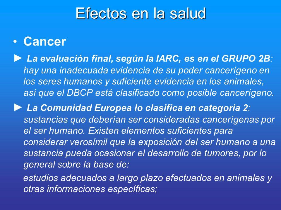 Efectos en la salud Cancer