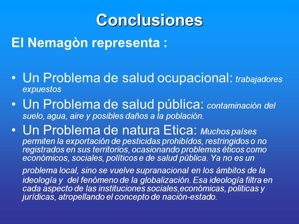 Conclusiones El Nemagòn representa :