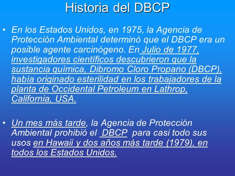 Historia del DBCP