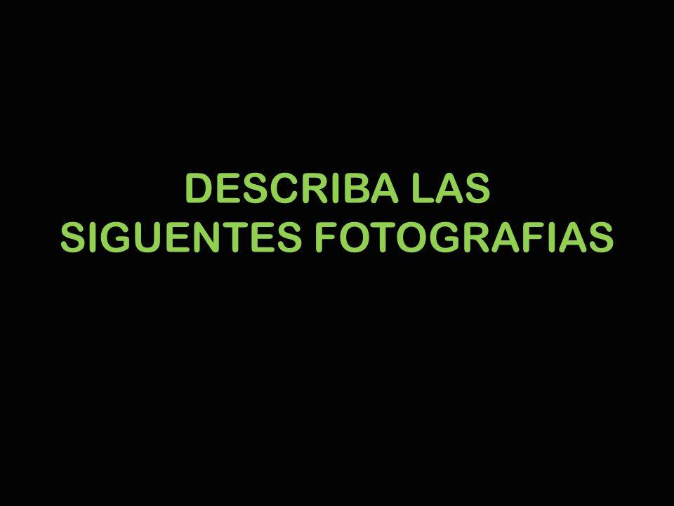 DESCRIBA LAS SIGUENTES FOTOGRAFIAS