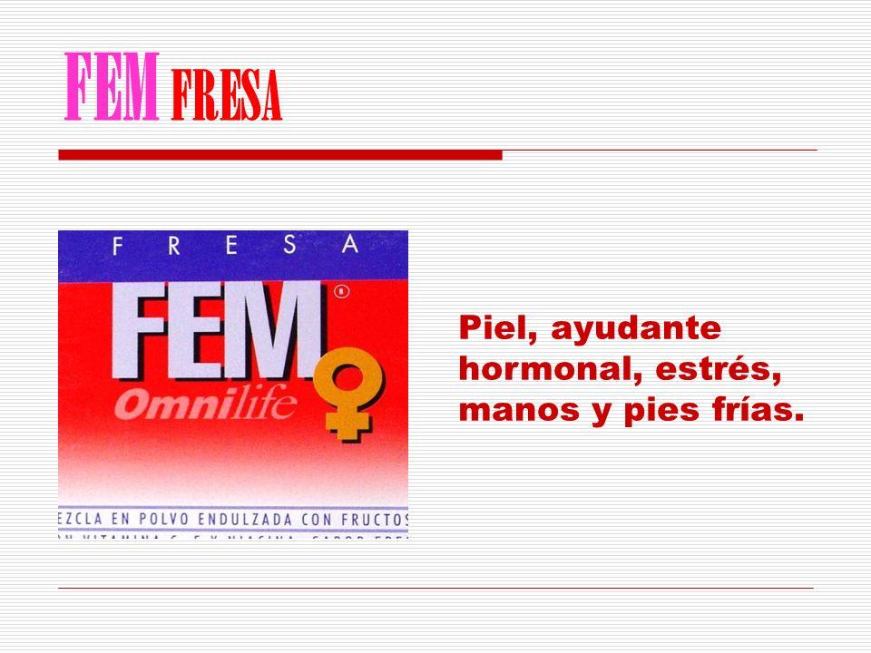 FEM FRESA Piel, ayudante hormonal, estrés, manos y pies frías.