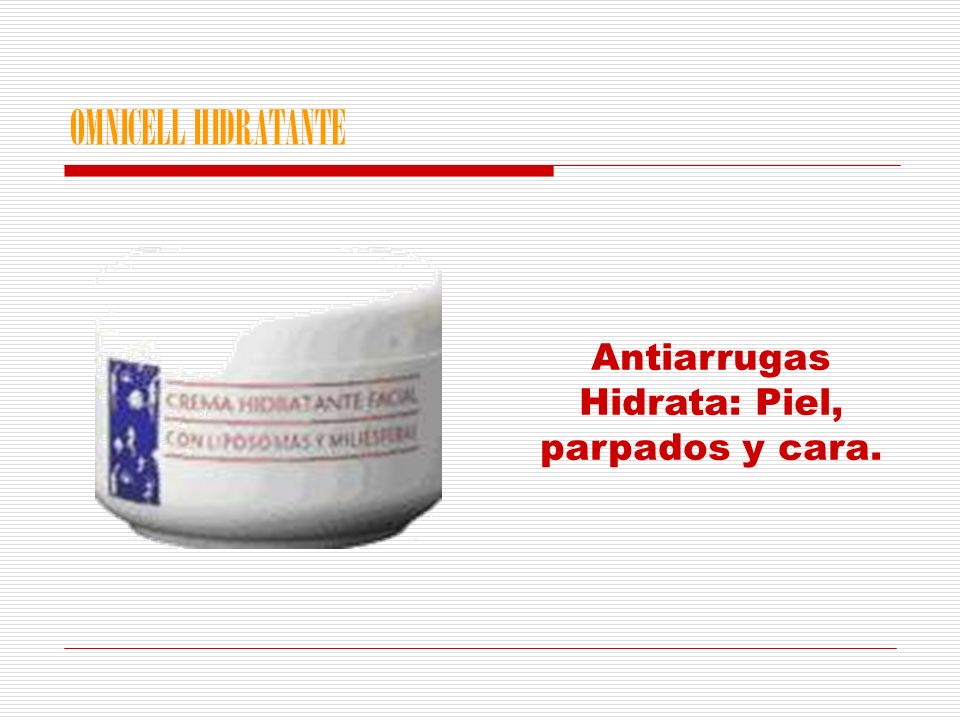 OMNICELL HIDRATANTE Antiarrugas Hidrata: Piel, parpados y cara.