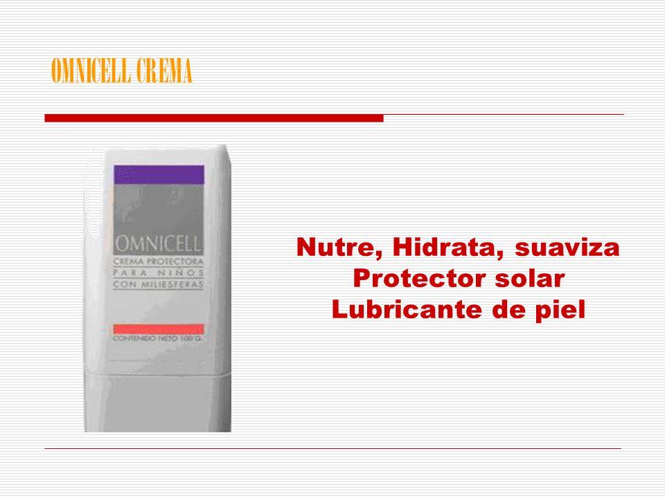 Nutre, Hidrata, suaviza Protector solar