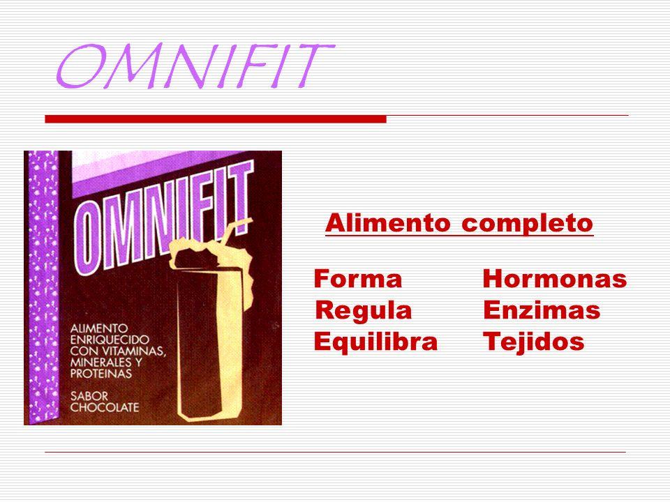 OMNIFIT Alimento completo Forma Hormonas Regula Enzimas