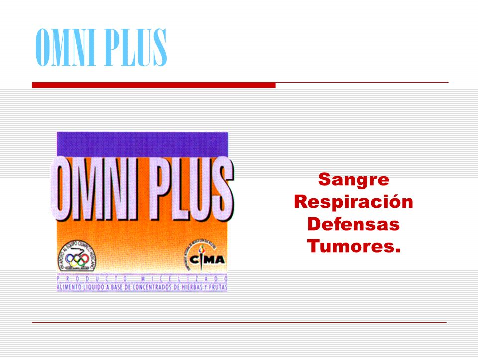 OMNI PLUS Sangre Respiración Defensas Tumores.