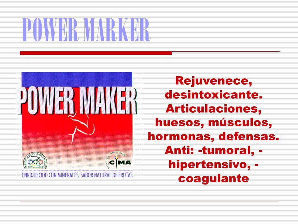 POWER MARKER Rejuvenece, desintoxicante.