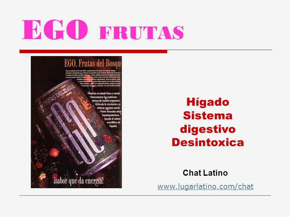 EGO FRUTAS Hígado Sistema digestivo Desintoxica Chat Latino