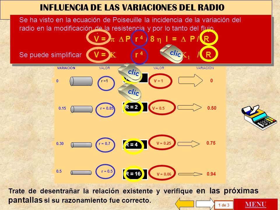 INFLUENCIA DE LAS VARIACIONES DEL RADIO