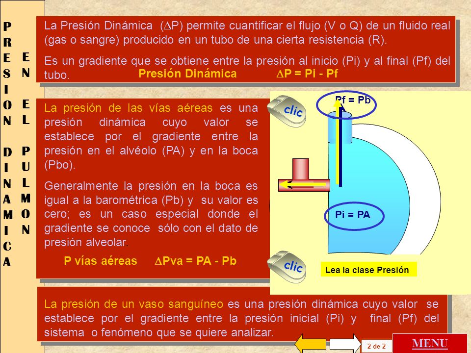PRESION DINAMICA EN EL PULMON