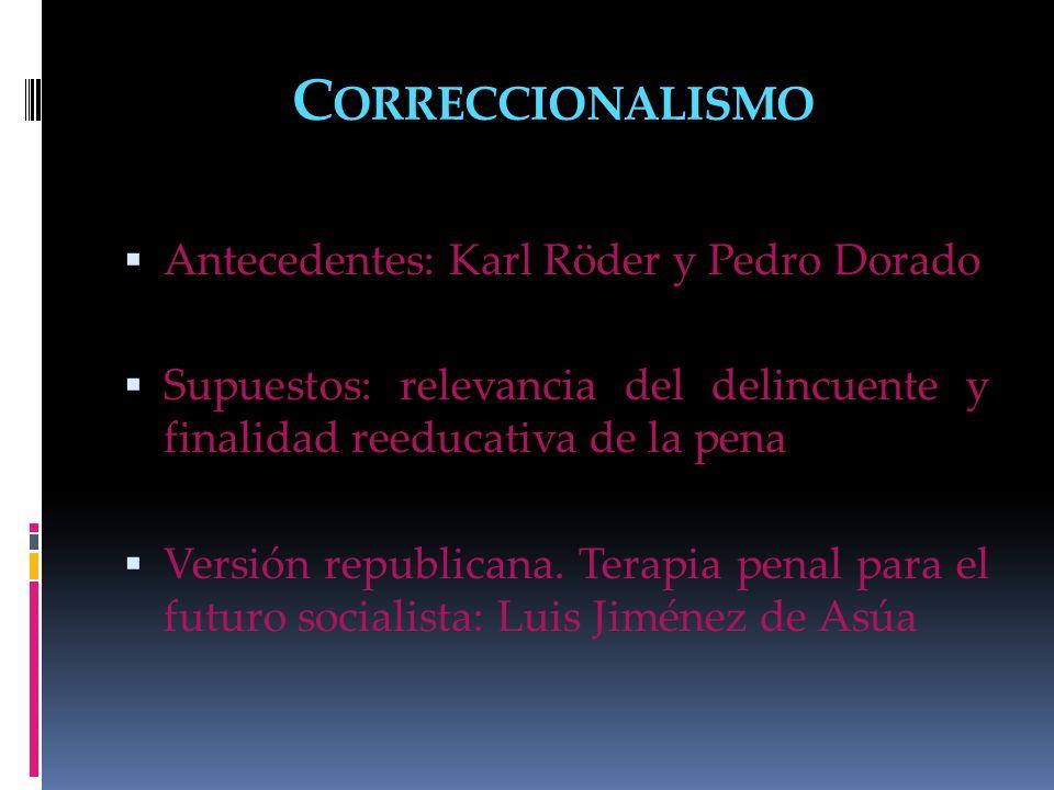 Correccionalismo Antecedentes: Karl Röder y Pedro Dorado