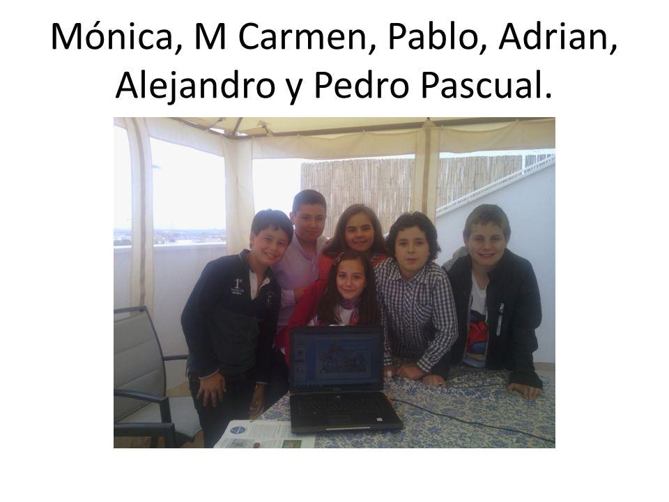 Mónica, M Carmen, Pablo, Adrian, Alejandro y Pedro Pascual.