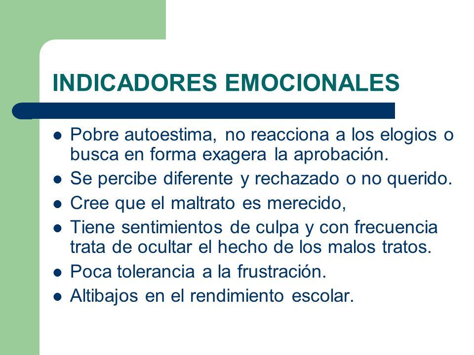 INDICADORES EMOCIONALES