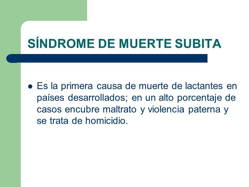 SÍNDROME DE MUERTE SUBITA