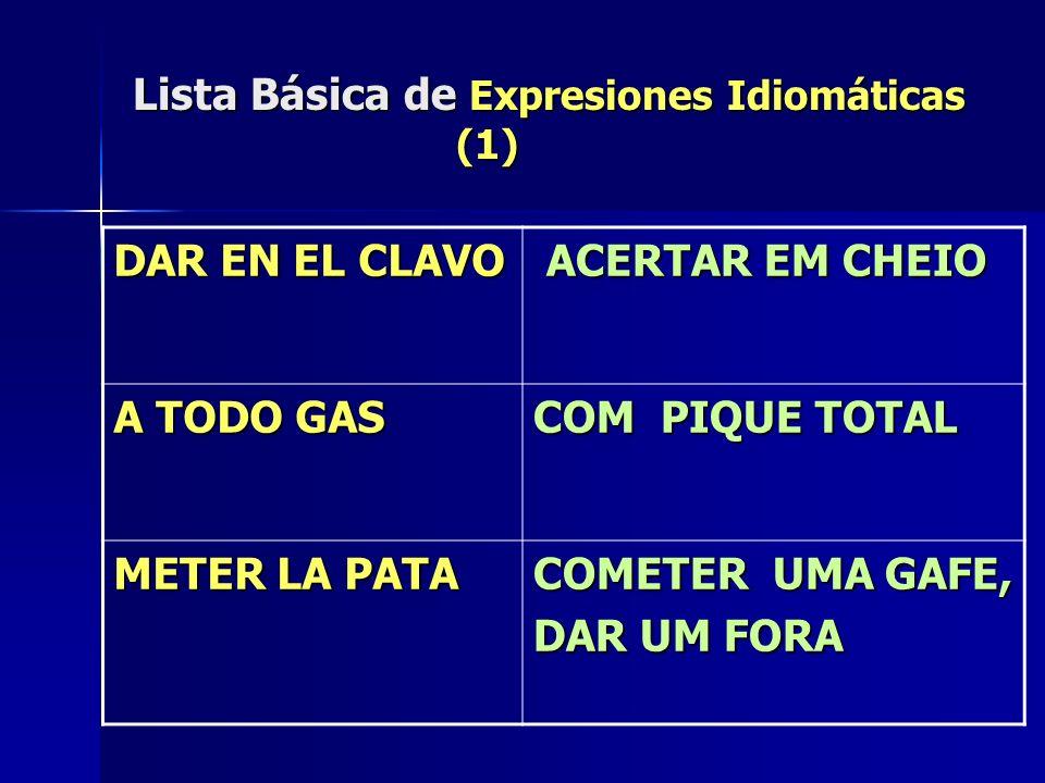 Lista Básica de Expresiones Idiomáticas (1)