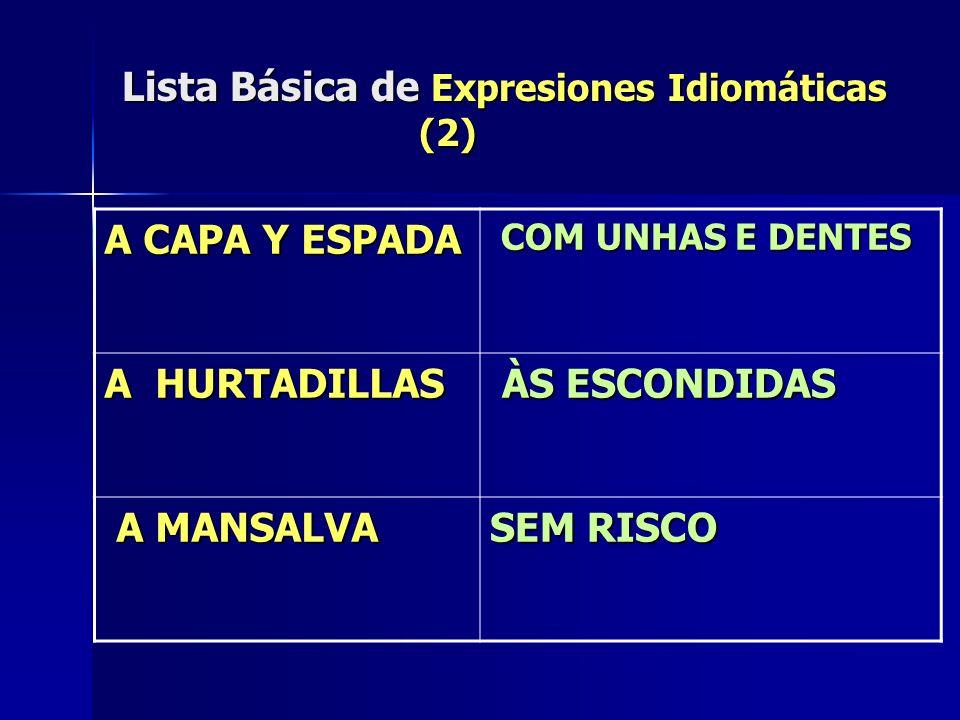 Lista Básica de Expresiones Idiomáticas (2)
