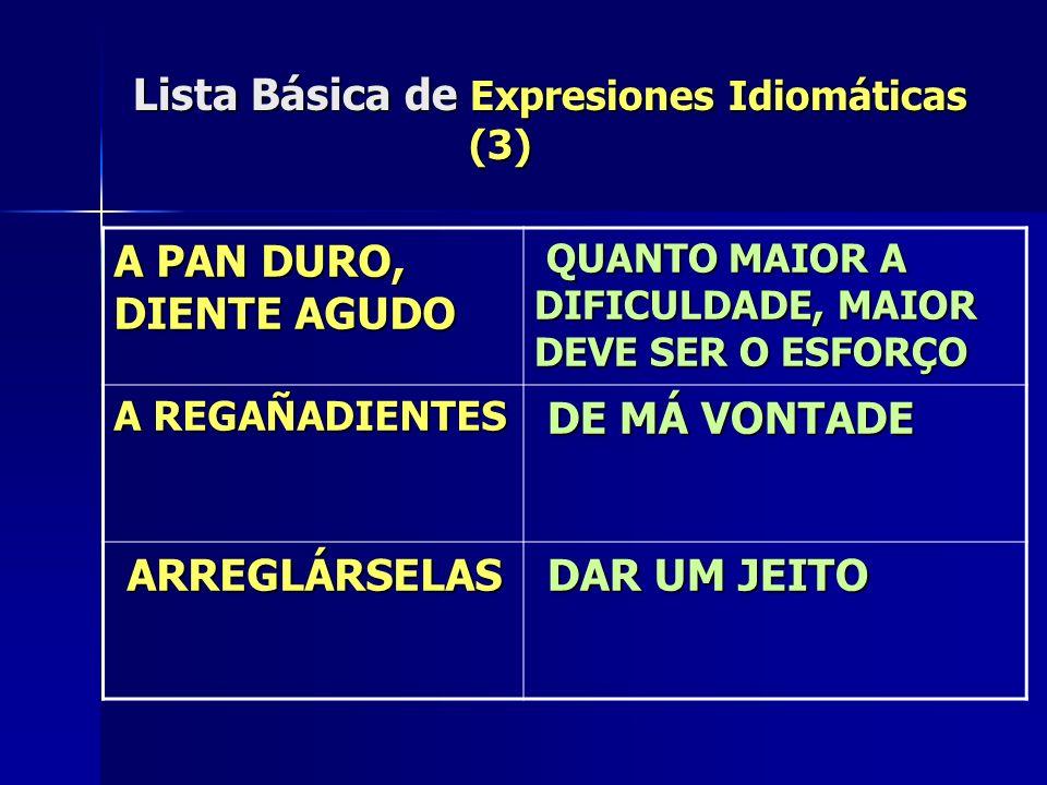 Lista Básica de Expresiones Idiomáticas (3)