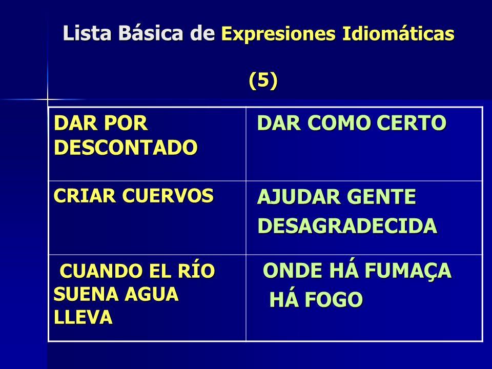 Lista Básica de Expresiones Idiomáticas (5)