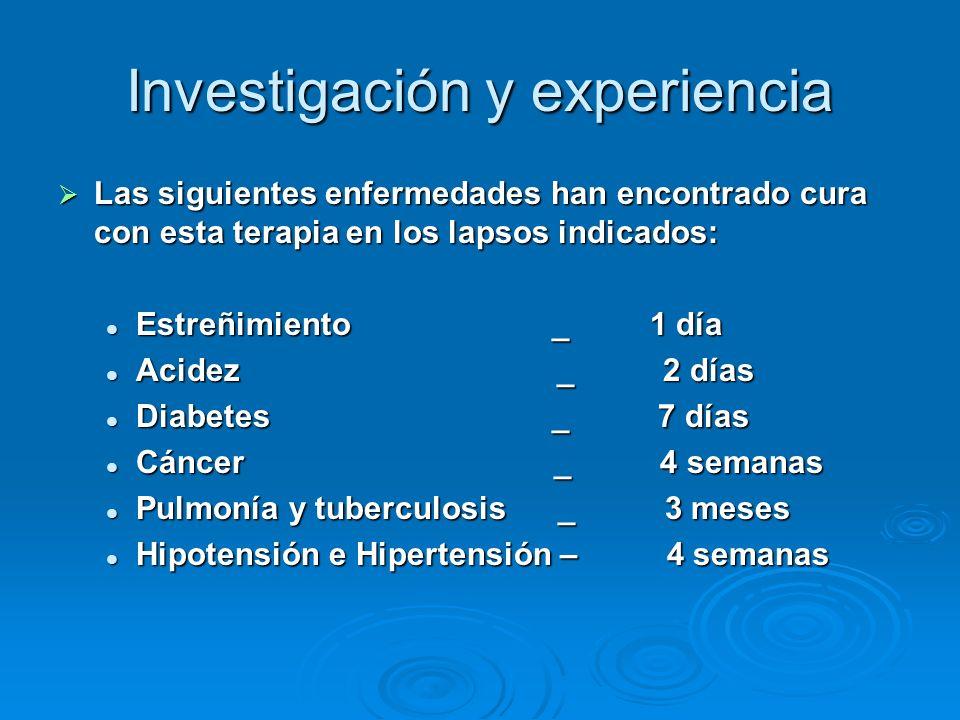 Investigación y experiencia