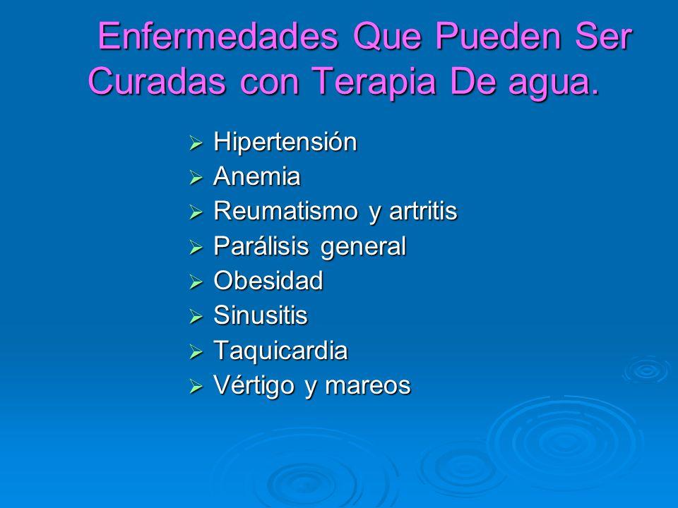 Enfermedades Que Pueden Ser Curadas con Terapia De agua.
