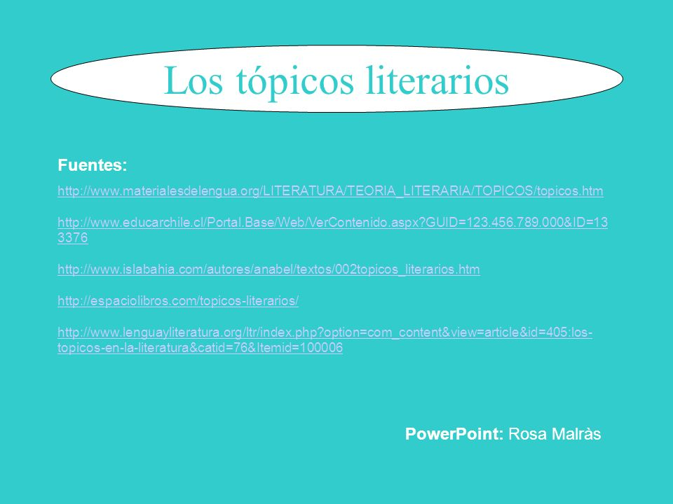 Los tópicos literarios