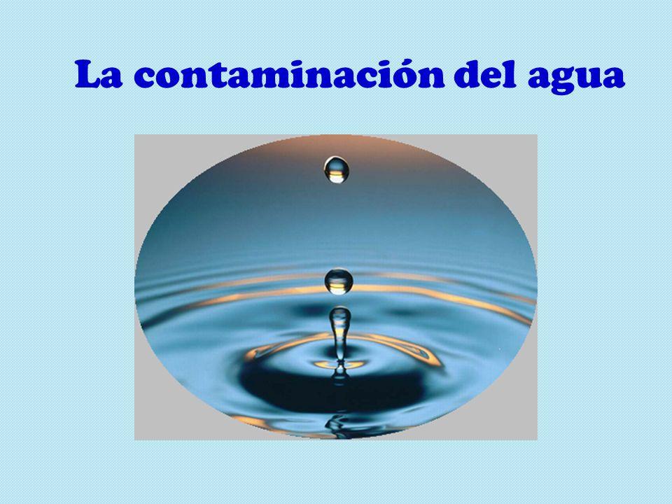 La contaminación del agua