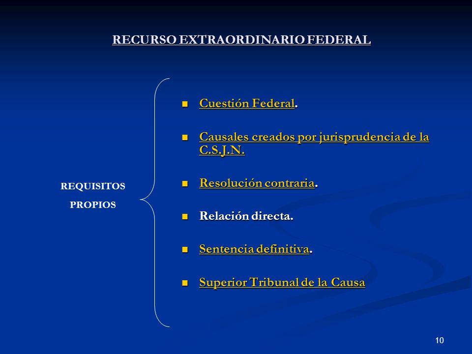 RECURSO EXTRAORDINARIO FEDERAL
