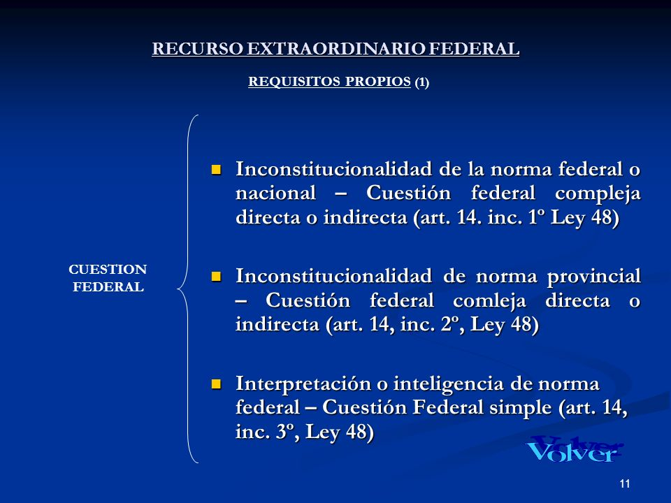 RECURSO EXTRAORDINARIO FEDERAL REQUISITOS PROPIOS (1)