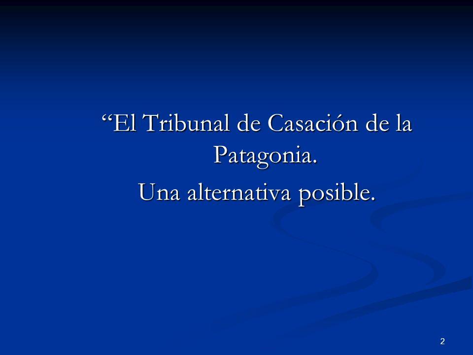 El Tribunal de Casación de la Patagonia. Una alternativa posible.