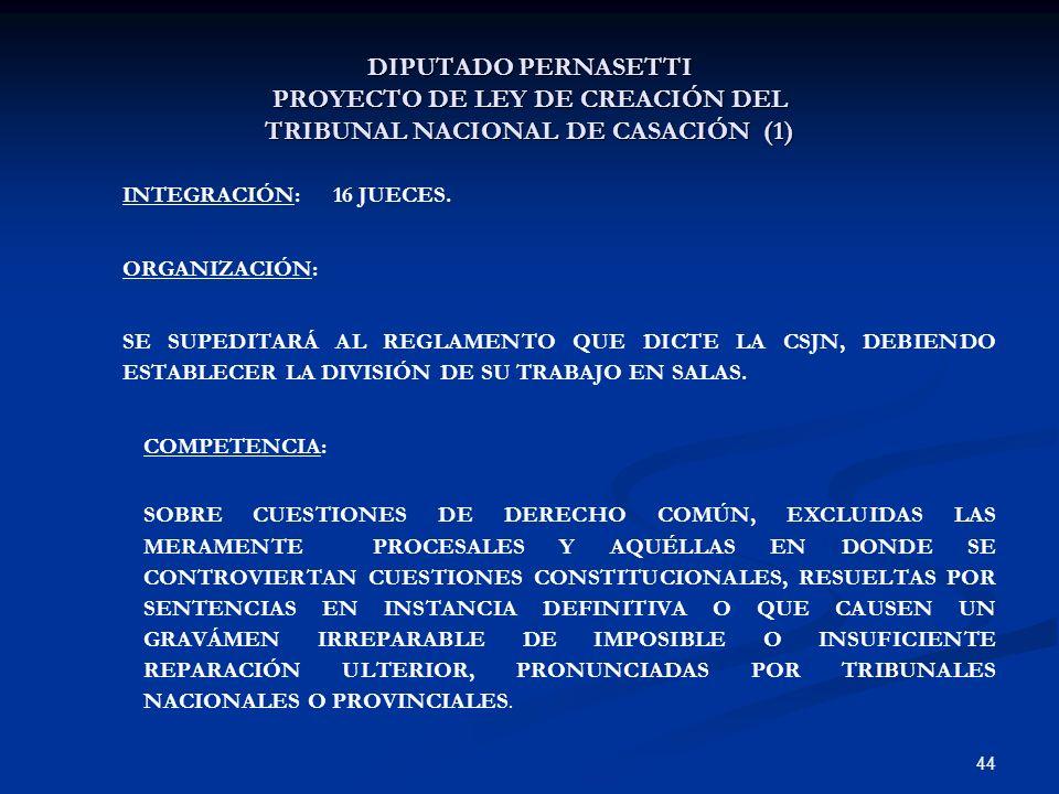 DIPUTADO PERNASETTI PROYECTO DE LEY DE CREACIÓN DEL TRIBUNAL NACIONAL DE CASACIÓN (1)