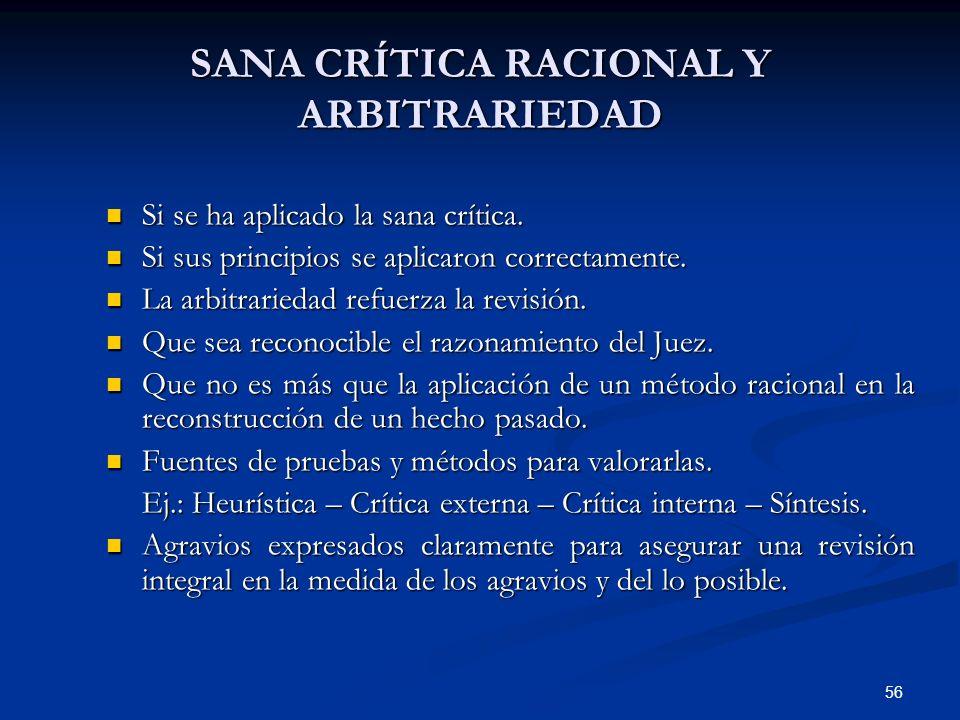 SANA CRÍTICA RACIONAL Y ARBITRARIEDAD