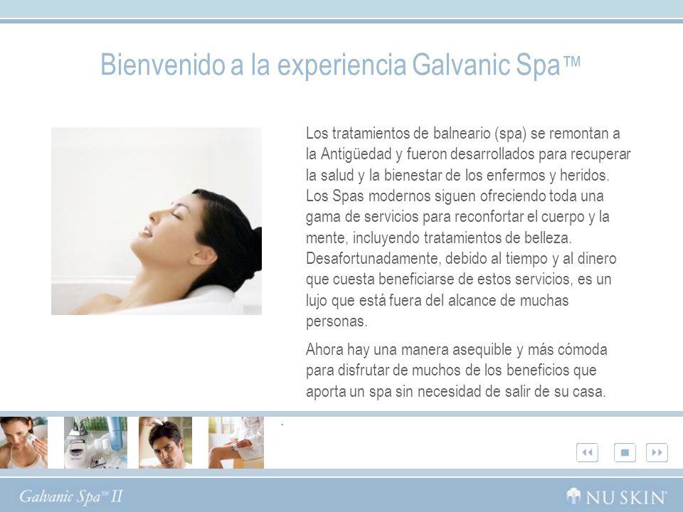 Bienvenido a la experiencia Galvanic Spa™