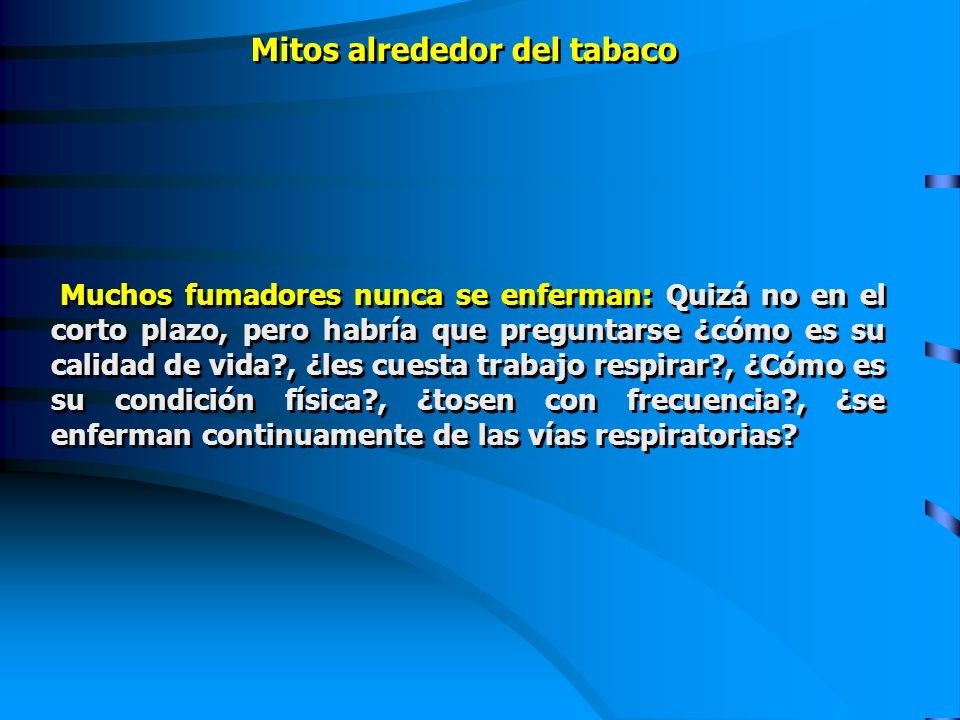 Mitos alrededor del tabaco