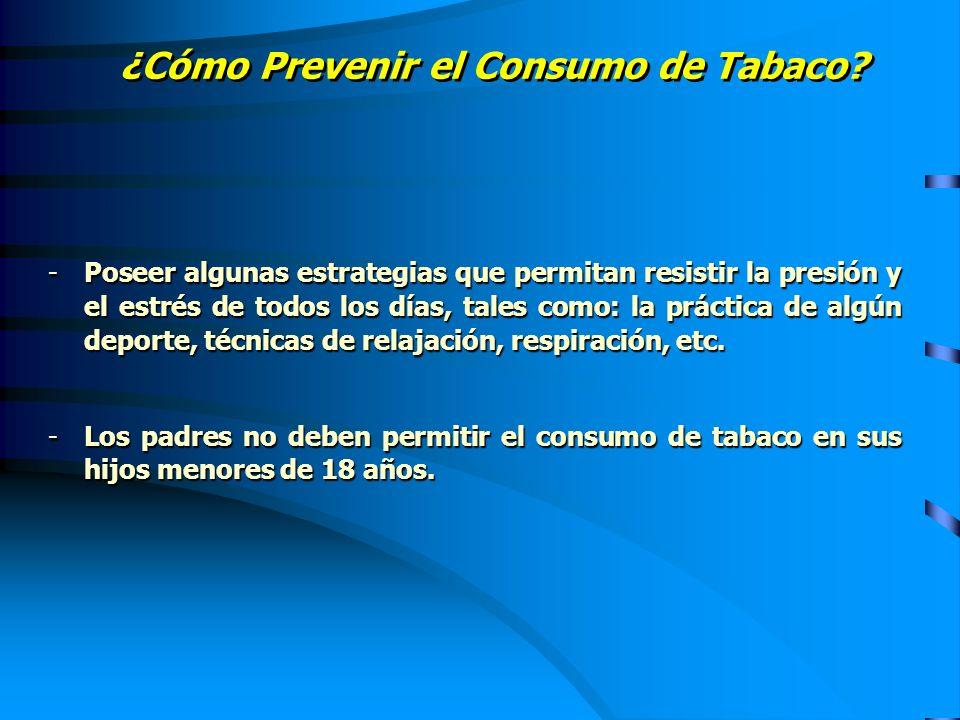 ¿Cómo Prevenir el Consumo de Tabaco