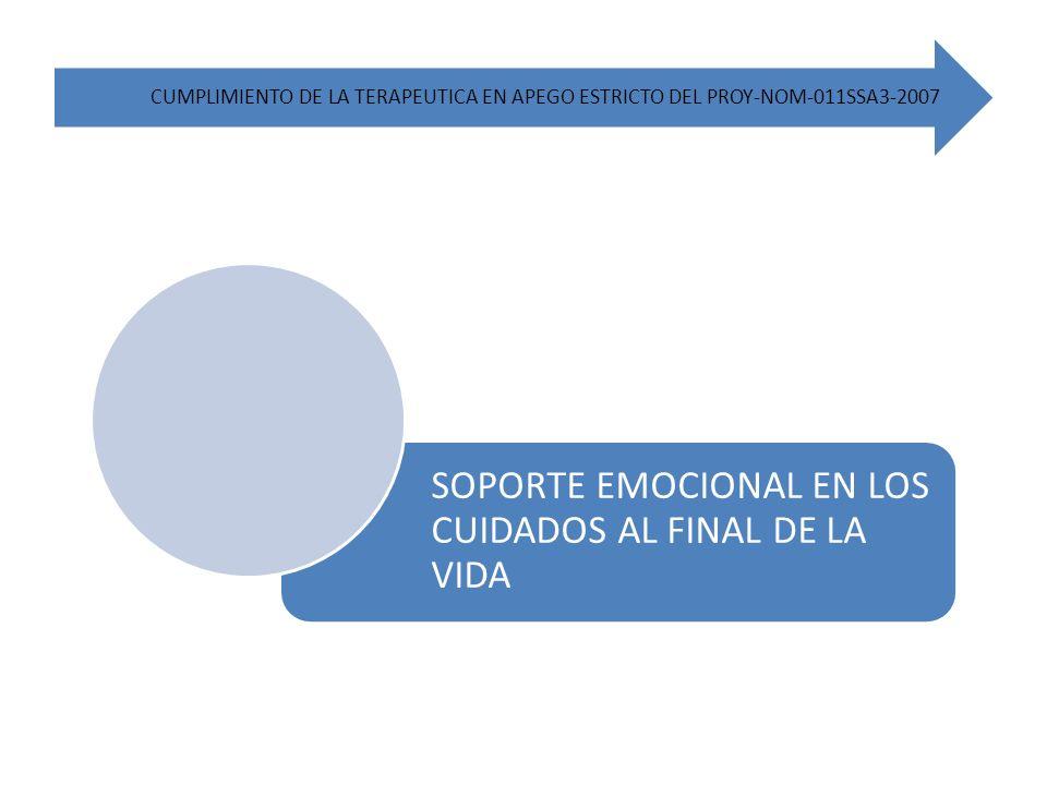 SOPORTE EMOCIONAL EN LOS CUIDADOS AL FINAL DE LA VIDA