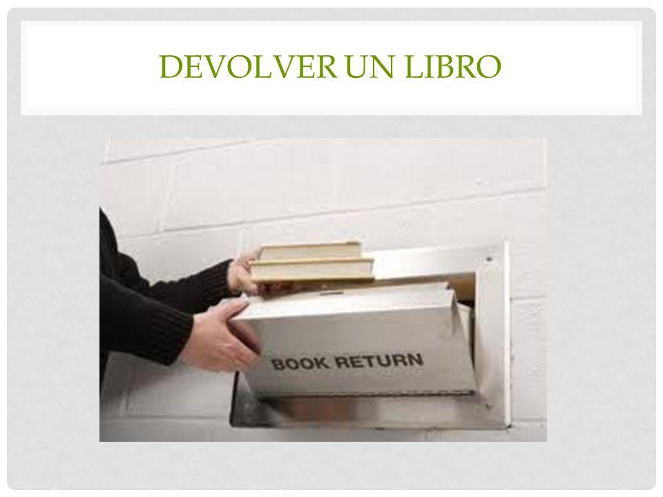 Devolver un libro