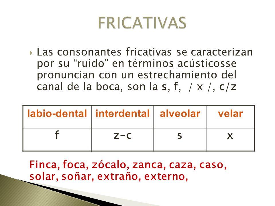 FRICATIVAS