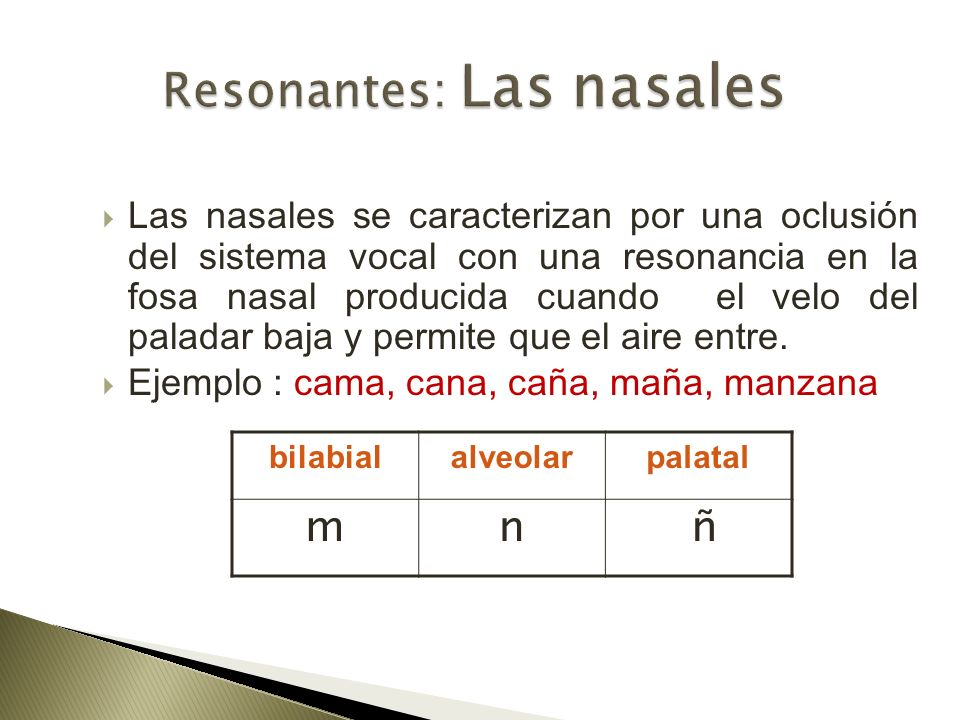 Resonantes: Las nasales