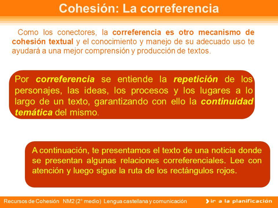 Cohesión: La correferencia