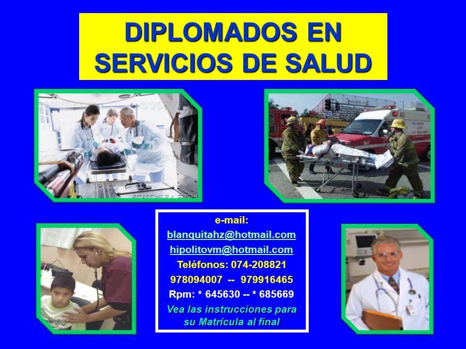 DIPLOMADOS EN SERVICIOS DE SALUD