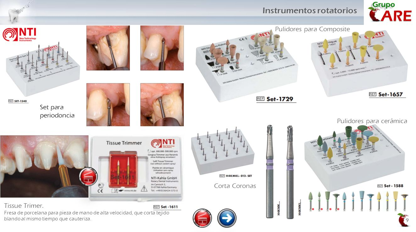 Instrumentos rotatorios