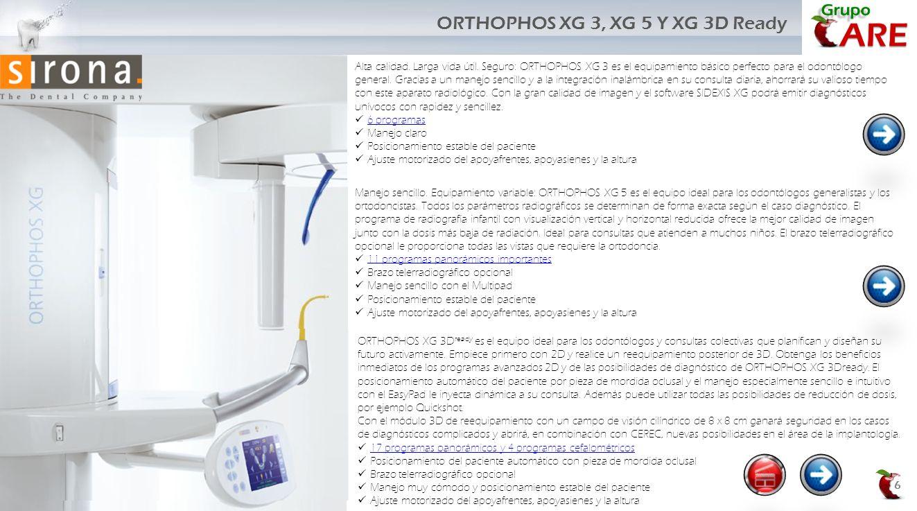 ORTHOPHOS XG 3, XG 5 Y XG 3D Ready