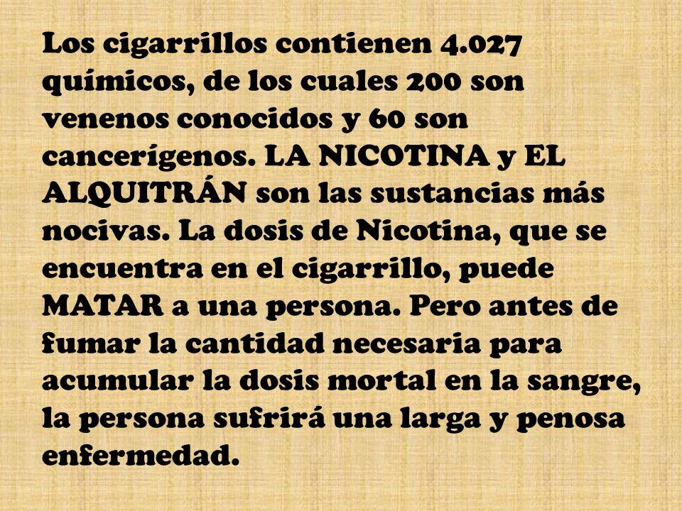 Los cigarrillos contienen 4