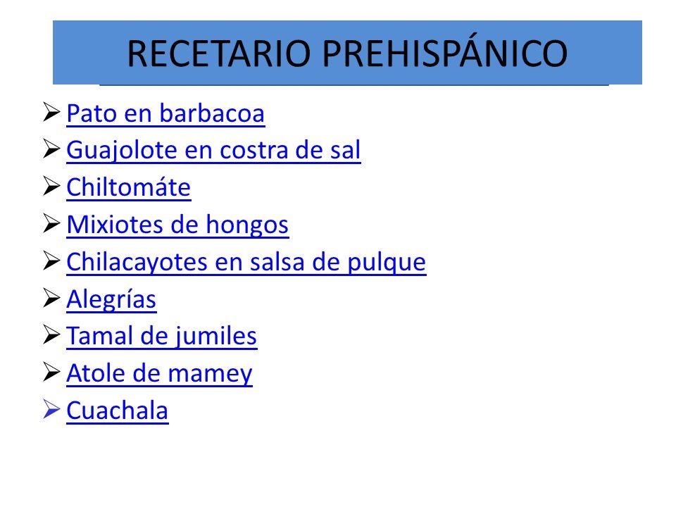 RECETARIO PREHISPÁNICO