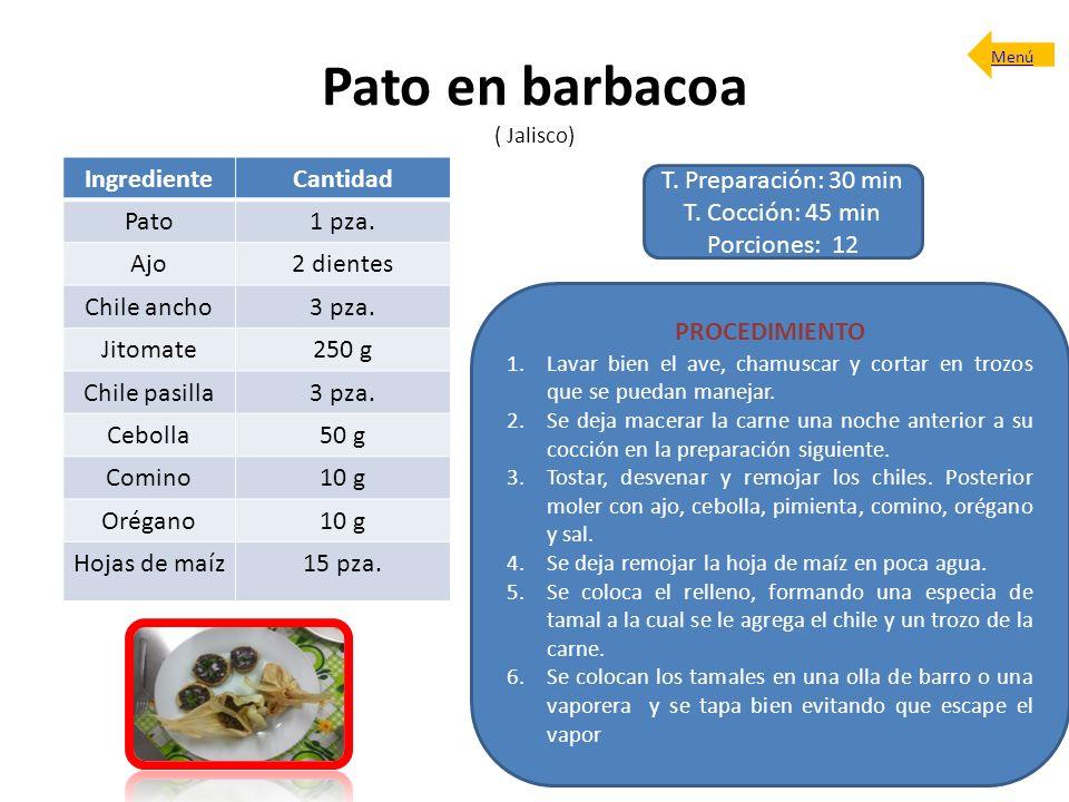 Pato en barbacoa ( Jalisco)